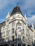 从第19个和第20个世纪的交接的布拉格建筑学 库存图片