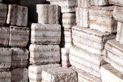从纯盐做的砖 库存照片