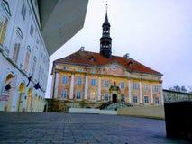 从纳尔瓦的Rathaus在Estland 图库摄影