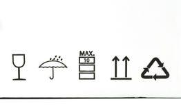 从纸板箱的符号 免版税库存图片