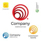 从线商标现代简单和干净身分品牌和App象商业标志概念集合模板的抽象圈子 免版税库存图片
