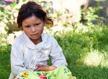 从罗马尼亚的美丽的吉普赛女孩 免版税库存照片