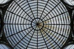 从翁贝托画廊的玻璃天花板 库存图片