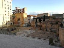 从考古学区域的贝内文托- Arco del萨加门多 库存图片