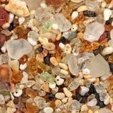 从考艾岛的玻璃沙子 免版税库存图片