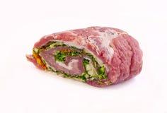 从肉的卷 库存照片