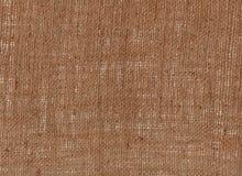 从自然粗麻布黑森州袋装的纹理纤维 库存照片