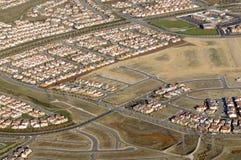 从航空的住房开发 免版税图库摄影