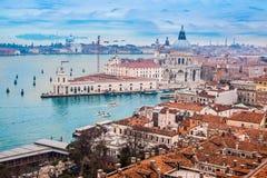 从航空的威尼斯 免版税库存图片