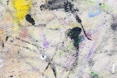 从色的油漆的污点在织品 图库摄影