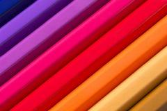 从色的铅笔的抽象背景,关闭  库存图片