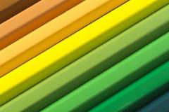 从色的铅笔的抽象背景,关闭  免版税库存照片