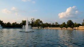 从艺术小山的盛大水池在森林公园,圣路易斯,密苏里 股票视频