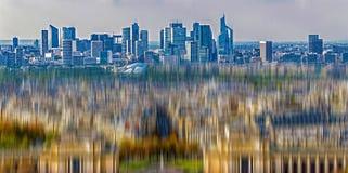 从艾菲尔铁塔的鸟瞰图 免版税库存照片