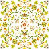 从花和叶子的无缝的花卉样式 免版税库存照片