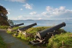 从英国人法国分谴舰队的保罗防御 库存照片