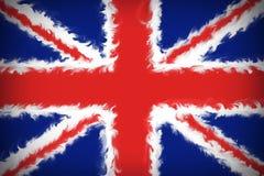 从英国的旗子的美好的背景 库存例证