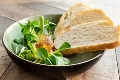 从莴苣叶子的开胃菜  免版税库存照片