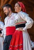 从葡萄牙的舞蹈家传统服装的 图库摄影