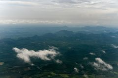 从董里府,泰国的角落的山景 库存图片
