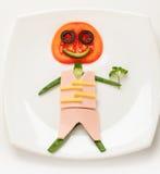 从蔬菜的人 免版税图库摄影