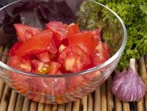 从蕃茄的沙拉 免版税库存照片