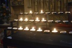 从蜡烛的光 免版税库存照片