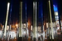 从被反映的大厦的反射在新普利茅斯 免版税库存图片