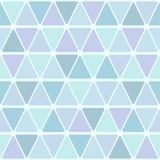 从被环绕的三角的无缝的样式 冷的轻淡优美的色彩 向量例证