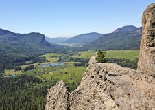 从西方叉子谷的一个风景看法在科罗拉多俯视 库存图片