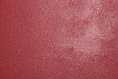 从西西里岛的明亮的强烈的浅红色的酒灰泥墙壁 库存照片
