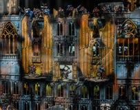 从计算机游戏的老城堡 库存照片