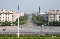从议会宫殿的自由大道  免版税库存图片