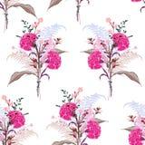 从许多的软的开花的花束桃红色花种类florals缝 向量例证
