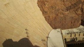 从访客中心的胡佛水坝视图 免版税库存图片