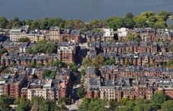 从谨慎中心的波士顿视图 免版税库存照片