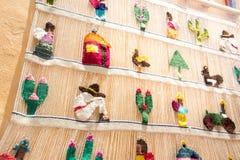 从贝尔纳尔克雷塔罗墨西哥的传统织品 库存图片