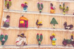 从贝尔纳尔克雷塔罗墨西哥的传统织品 库存照片