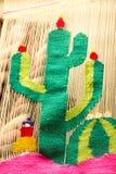 从贝尔纳尔克雷塔罗墨西哥的传统织品 免版税库存图片