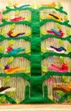 从贝尔纳尔克雷塔罗墨西哥的传统织品 免版税图库摄影