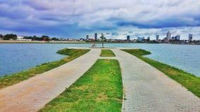 从费拉迪圣安娜,巴西的一个湖 免版税图库摄影