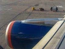 从车里雅宾斯克的飞行向莫斯科 免版税库存照片