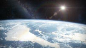 从轨道的地球 影视素材