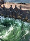 从轮渡的水 库存照片