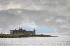从轮渡观看的克伦堡城堡到瑞典 免版税库存图片