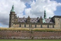 从轮渡观看的克伦堡城堡到瑞典 库存图片