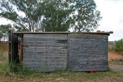 从边的木棚子 库存照片