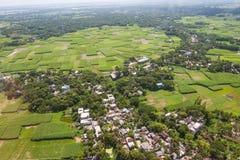 从达卡射击的直升机,孟加拉国 免版税库存图片