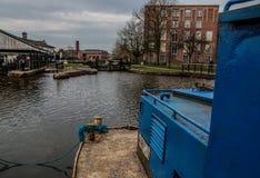 从运转的驳船的看法 库存照片