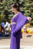 从远东的时装表演 图库摄影
